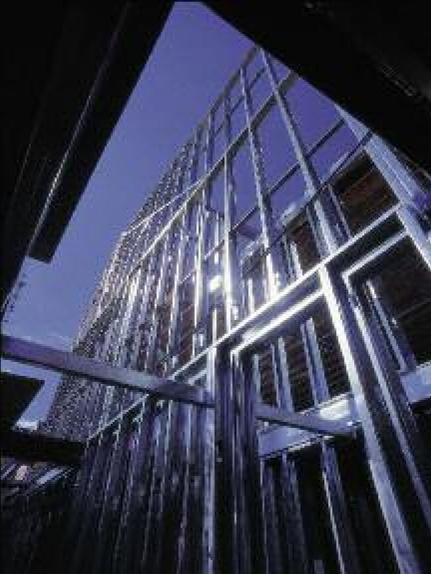 Angled View of Steel beams