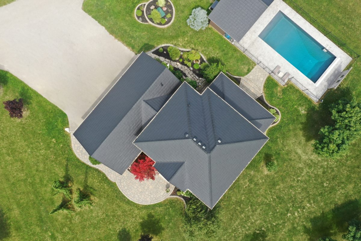 Arial View Featuring True Nature Steel Tiles By VicWest