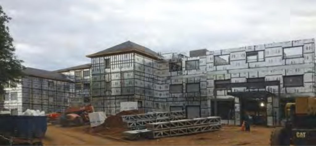 Building structure under construction