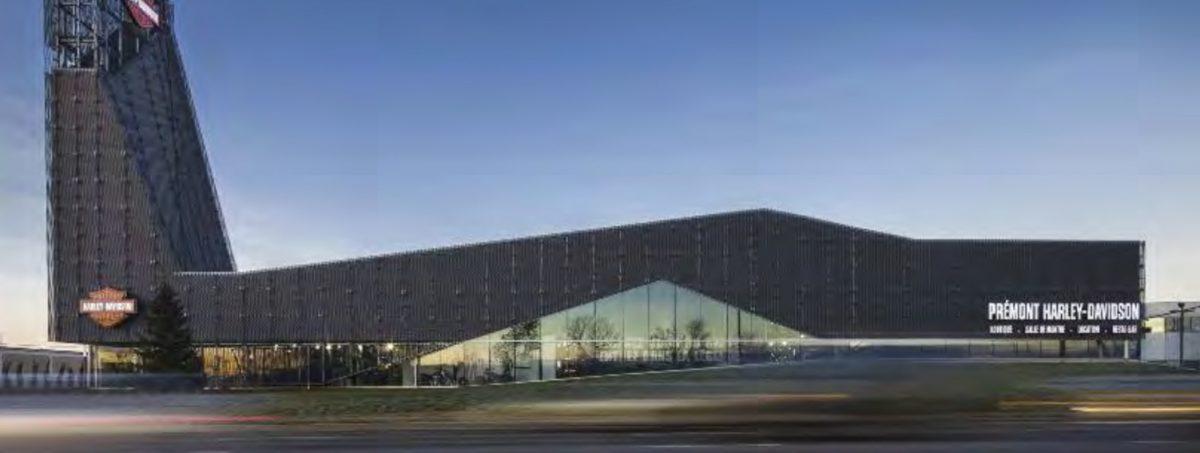 Harley Davidson Full width building view