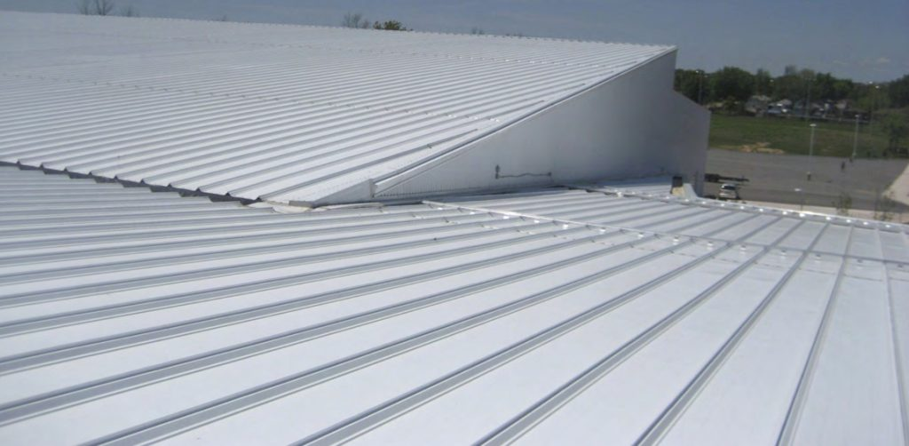 angled steel roof