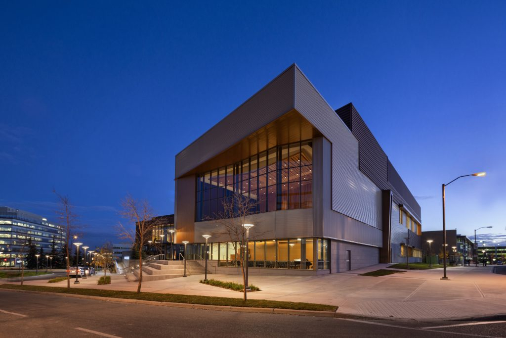 Exterior Night Taylor Centre for the Performing Arts